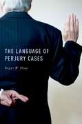 Cover for The Language of Perjury Cases