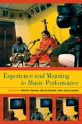 Cover for Experience and Meaning in Music Performance