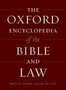 Cover for The Oxford Encyclopedia of the Bible and Law
