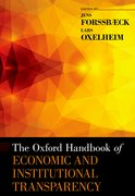 Cover for The Oxford Handbook of Economic and Institutional Transparency