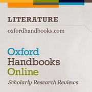Cover for Oxford Handbooks Online: Literature