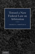 Cover for Toward a New Federal Law on Arbitration