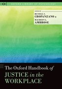 Cover for The Oxford Handbook of Justice in the Workplace