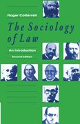 Cover for The Sociology of Law