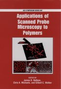 Cover for Applications of Scanned Probe Microscopy to Polymers