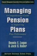 Cover for Managing Pension Plans: