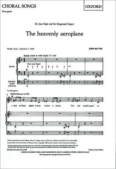 The heavenly aeroplane image