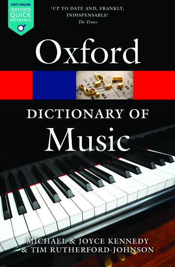 The Oxford Dictionary of Music  image