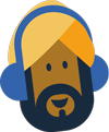 Man listening to music icon
