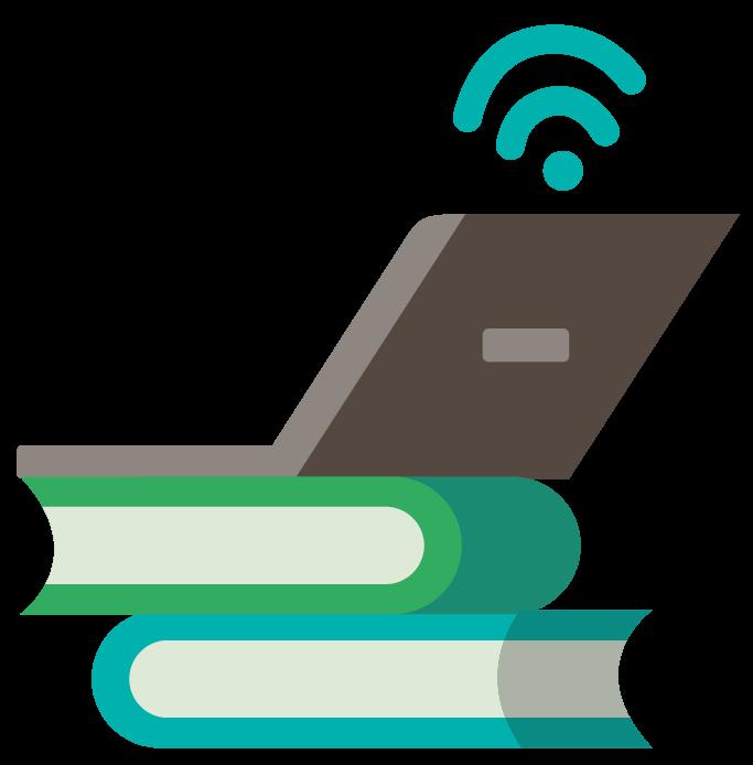 Laptop on Book